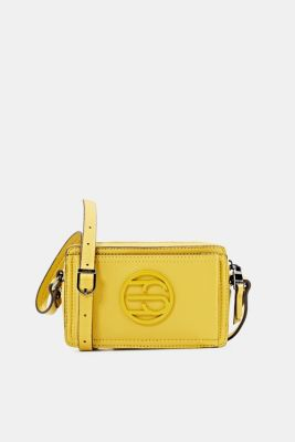Faux leather camera bag, BRASS YELLOW, detail