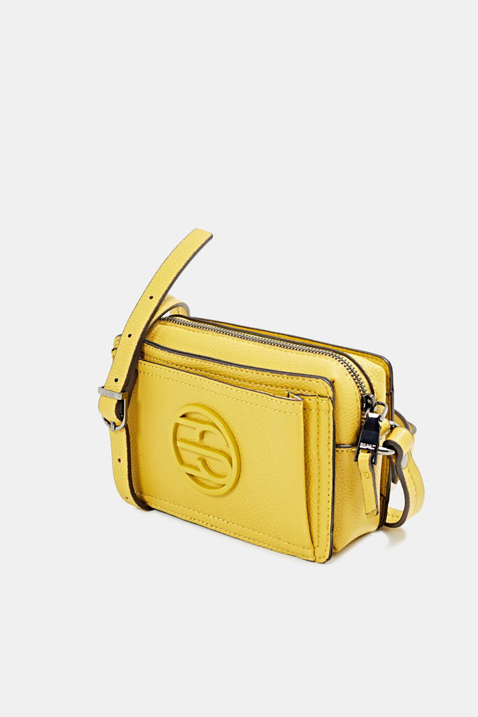 Faux leather camera bag, BRASS YELLOW, detail image number 2