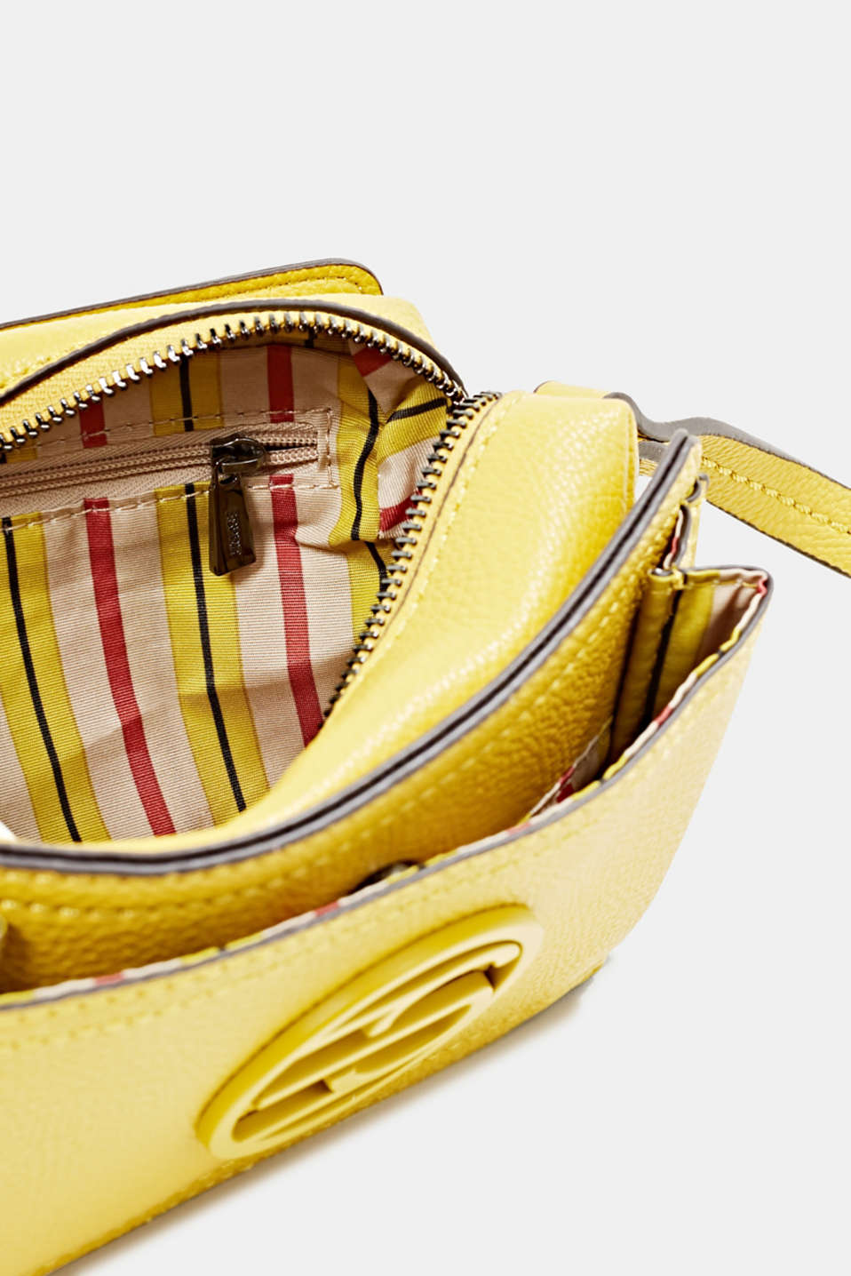 Faux leather camera bag, BRASS YELLOW, detail image number 4