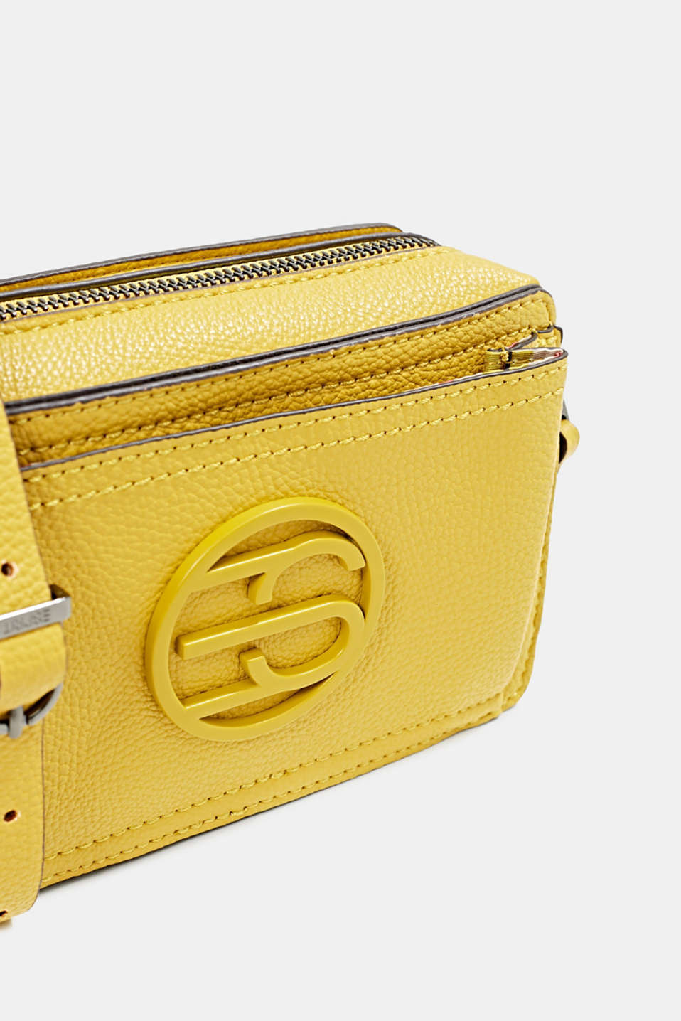 Faux leather camera bag, BRASS YELLOW, detail image number 3