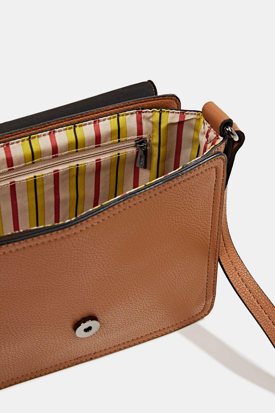 Faux leather shoulder bag, TOFFEE, detail image number 4
