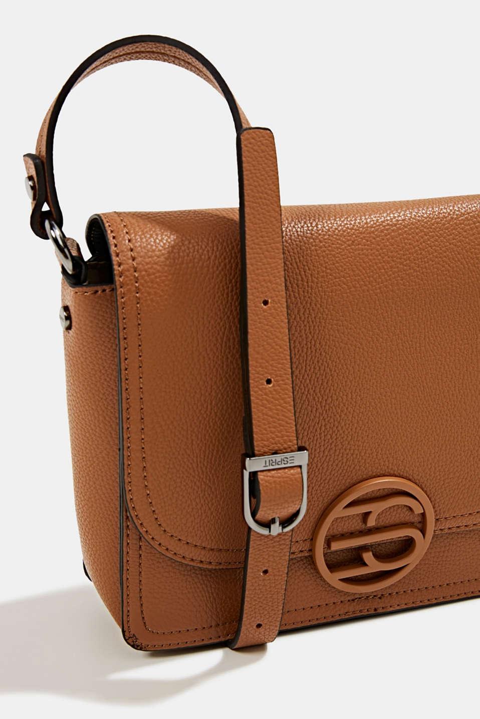 Faux leather shoulder bag, TOFFEE, detail image number 3