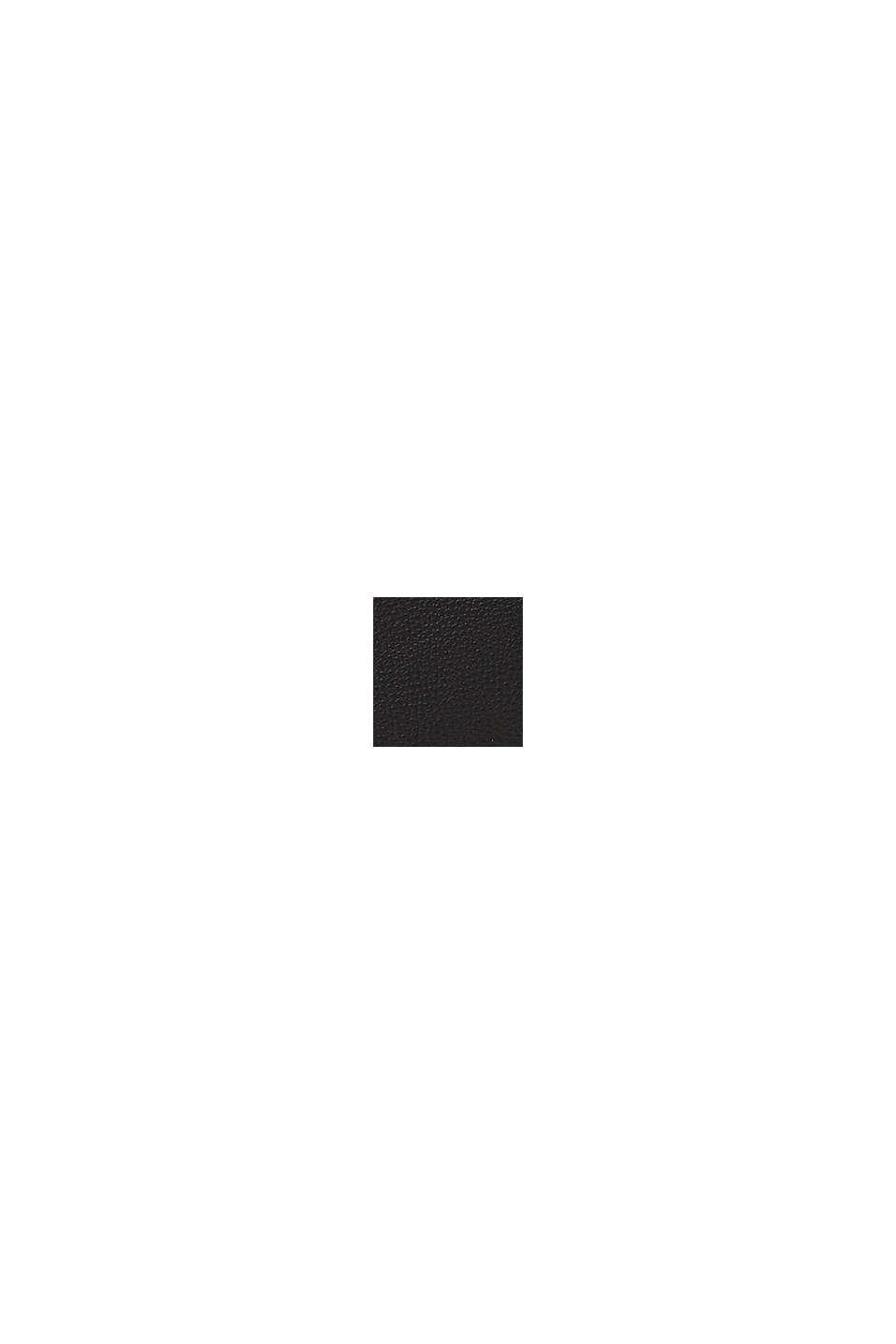 Axelremsväska i skinnlook, BLACK, swatch