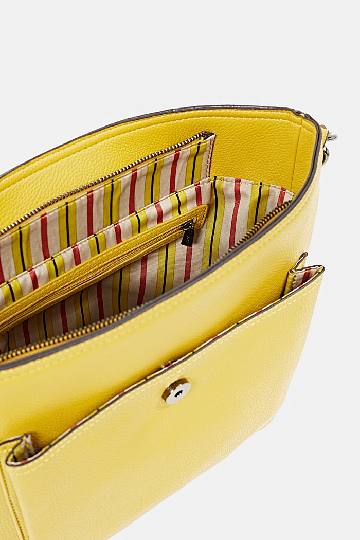 Faux leather shoulder bag, BRASS YELLOW, detail image number 4