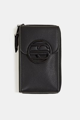 Monogram range: phone bag and purse, BLACK, detail
