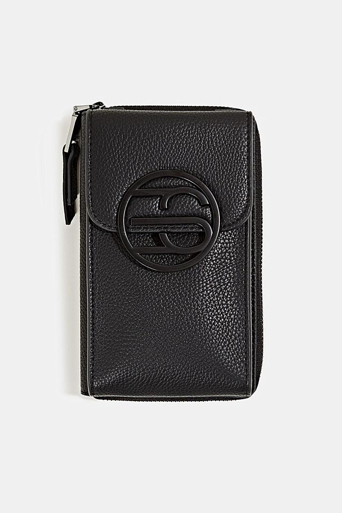 Monogram range: phone bag and purse, BLACK, detail image number 0