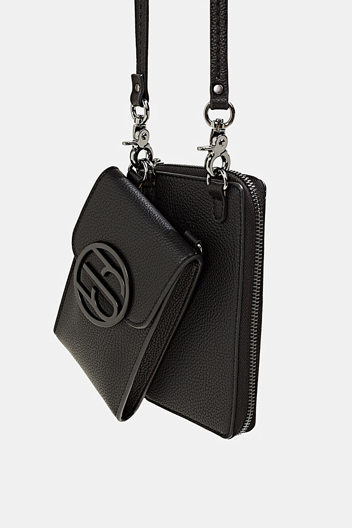 Monogram range: phone bag and purse, BLACK, detail image number 2