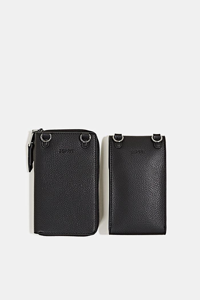 Monogram range: phone bag and purse, BLACK, detail image number 4