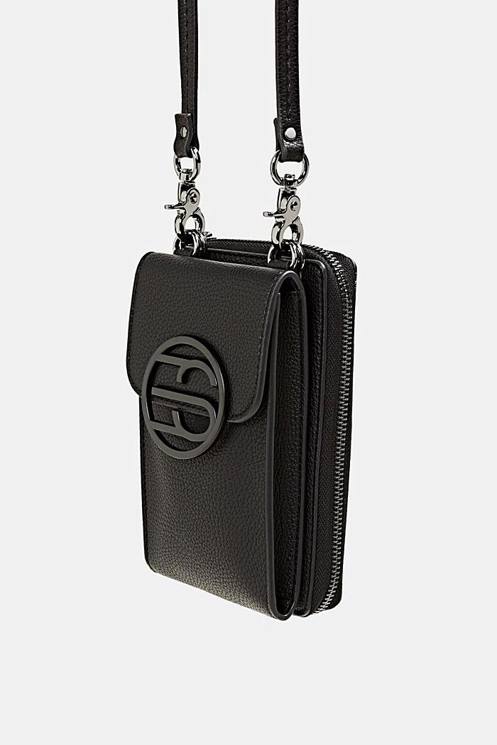 Monogram range: phone bag and purse, BLACK, detail image number 5