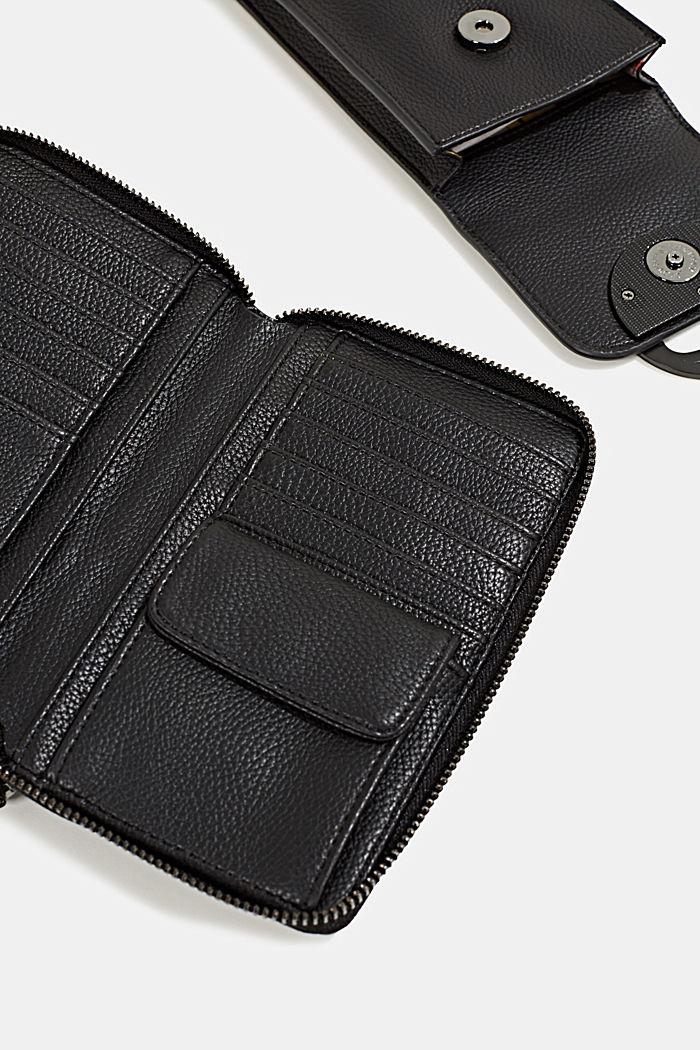 Monogram range: phone bag and purse, BLACK, detail image number 3