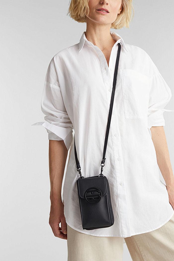 Monogram range: phone bag and purse, BLACK, detail image number 1