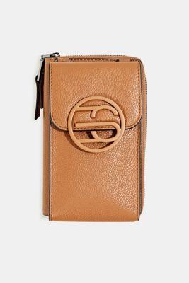 Monogram range: phone bag and purse, TOFFEE, detail