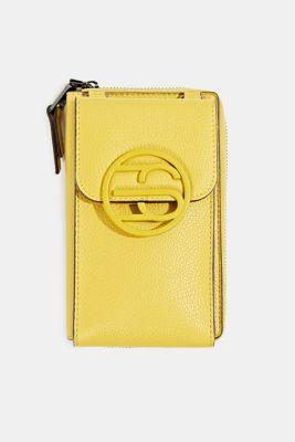 Monogram range: phone bag and purse, BRASS YELLOW, detail