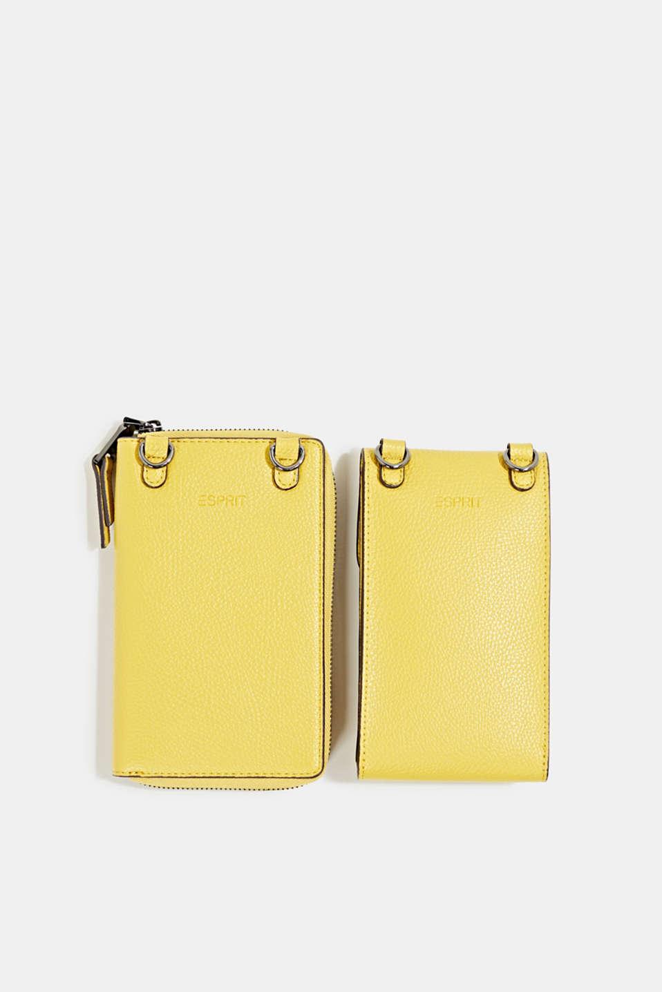 Monogram range: phone bag and purse, BRASS YELLOW, detail image number 4