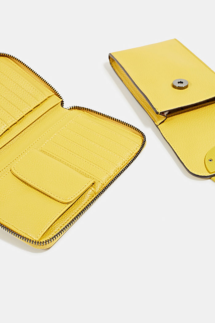 Monogram range: phone bag and purse, BRASS YELLOW, detail image number 3