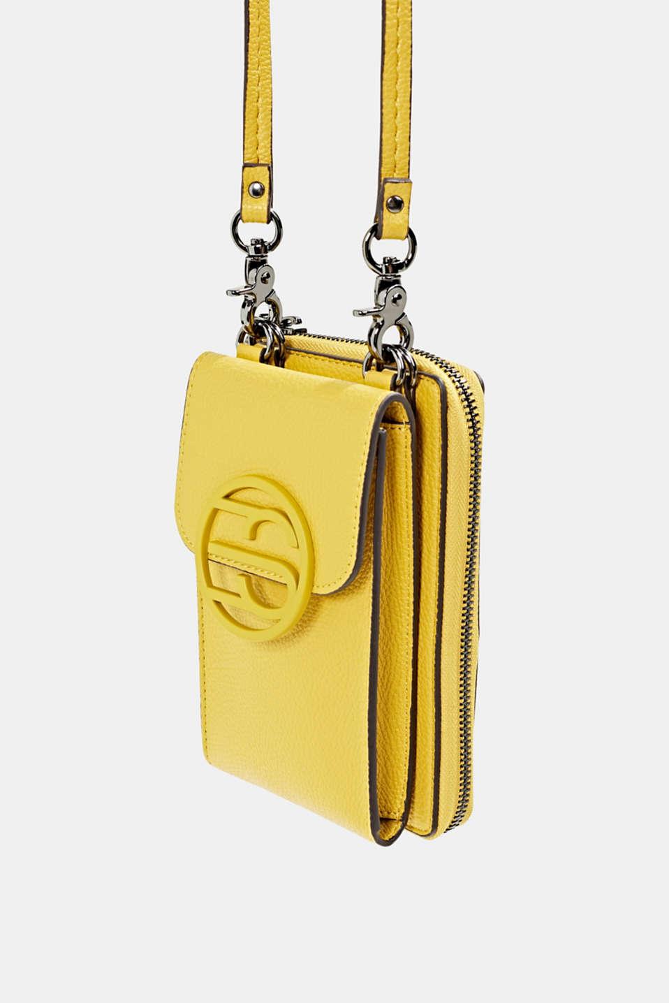 Monogram range: phone bag and purse, BRASS YELLOW, detail image number 2
