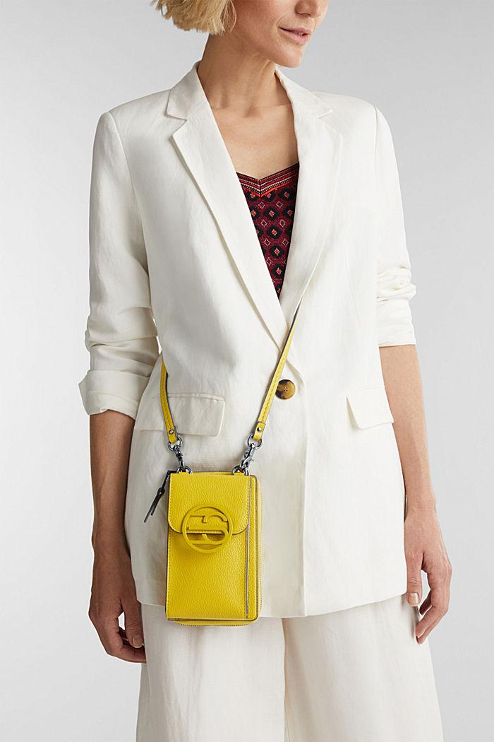 Monogram range: phone bag and purse, BRASS YELLOW, detail image number 1