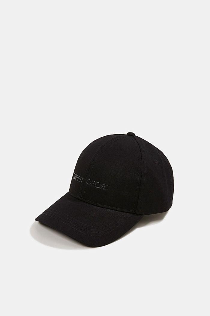 Base-Cap mit Logo-Print, BLACK, detail image number 0