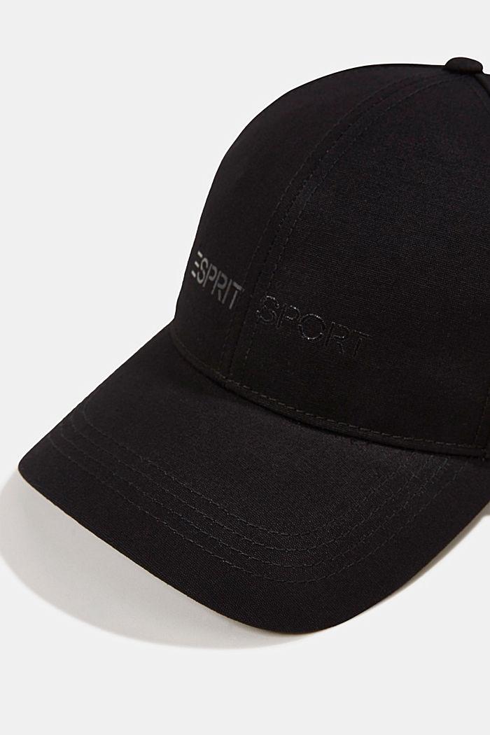Base-Cap mit Logo-Print, BLACK, detail image number 1