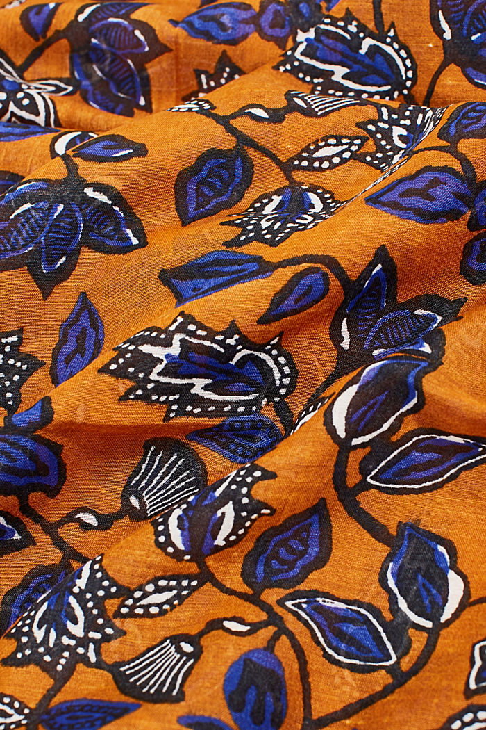 Scarf with floral print, RUST BROWN, detail image number 2