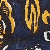 Scarf with floral print, NAVY, swatch