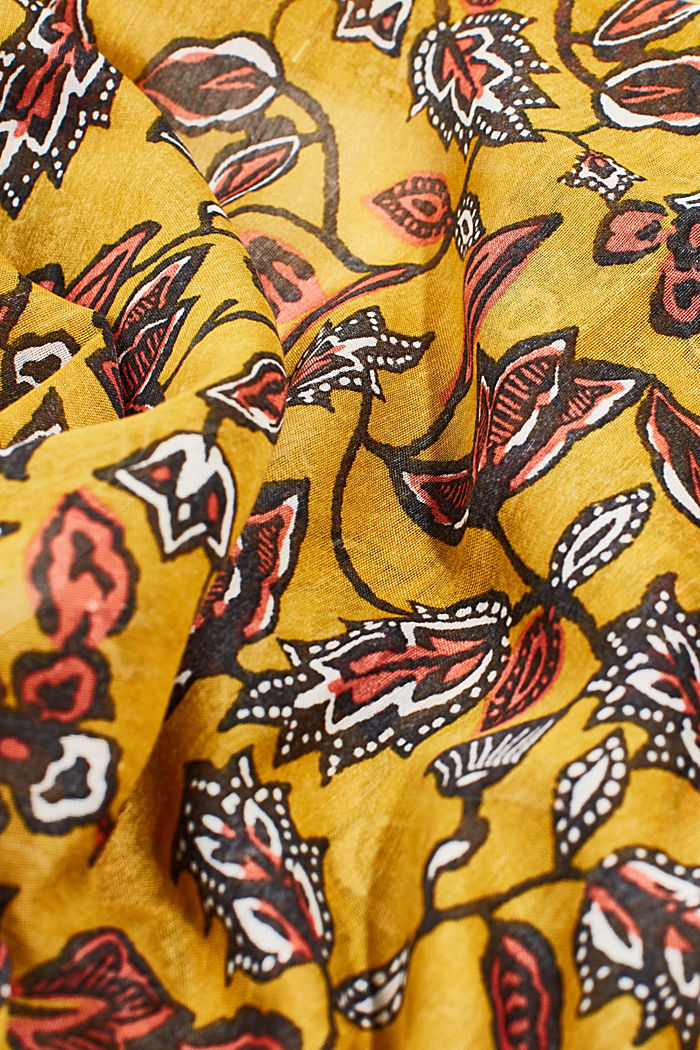 Scarf with floral print, YELLOW, detail image number 2