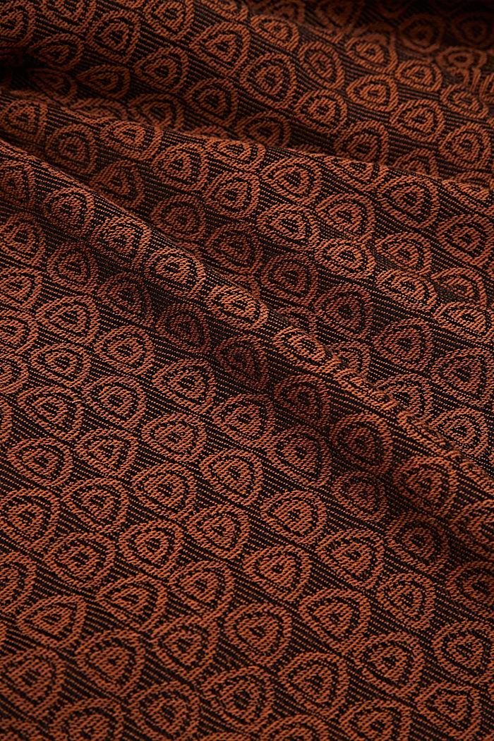 Jacquard-Schal aus 100% Baumwolle, BROWN, detail image number 2