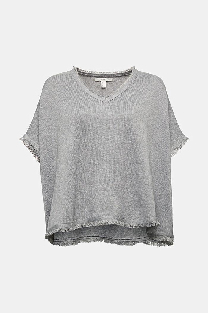 Svlnou: pletené pončo, GREY, detail image number 0