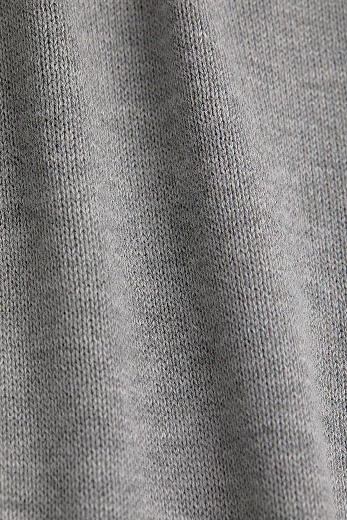 Svlnou: pletené pončo, GREY, detail image number 2