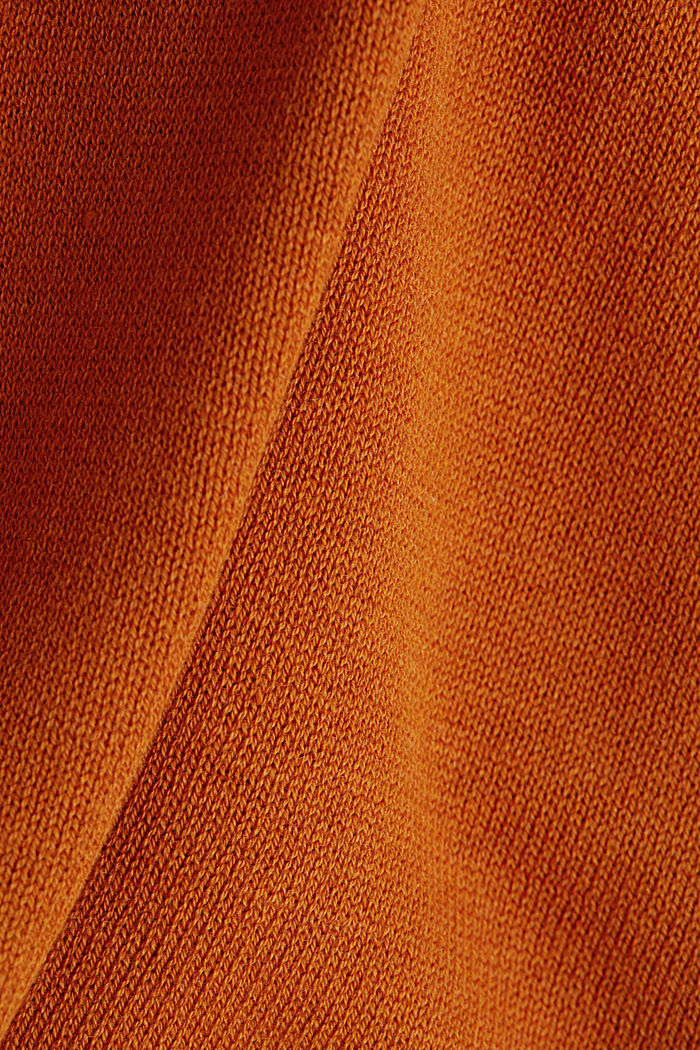With wool: knit poncho, RUST BROWN, detail image number 2