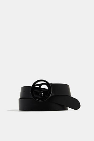 Made of leather: belt with logo buckle