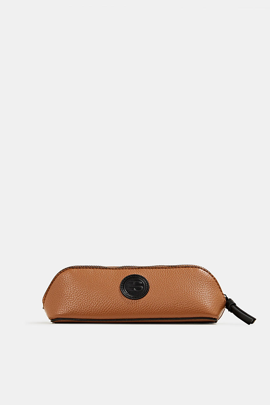 Faux leather make-up bag