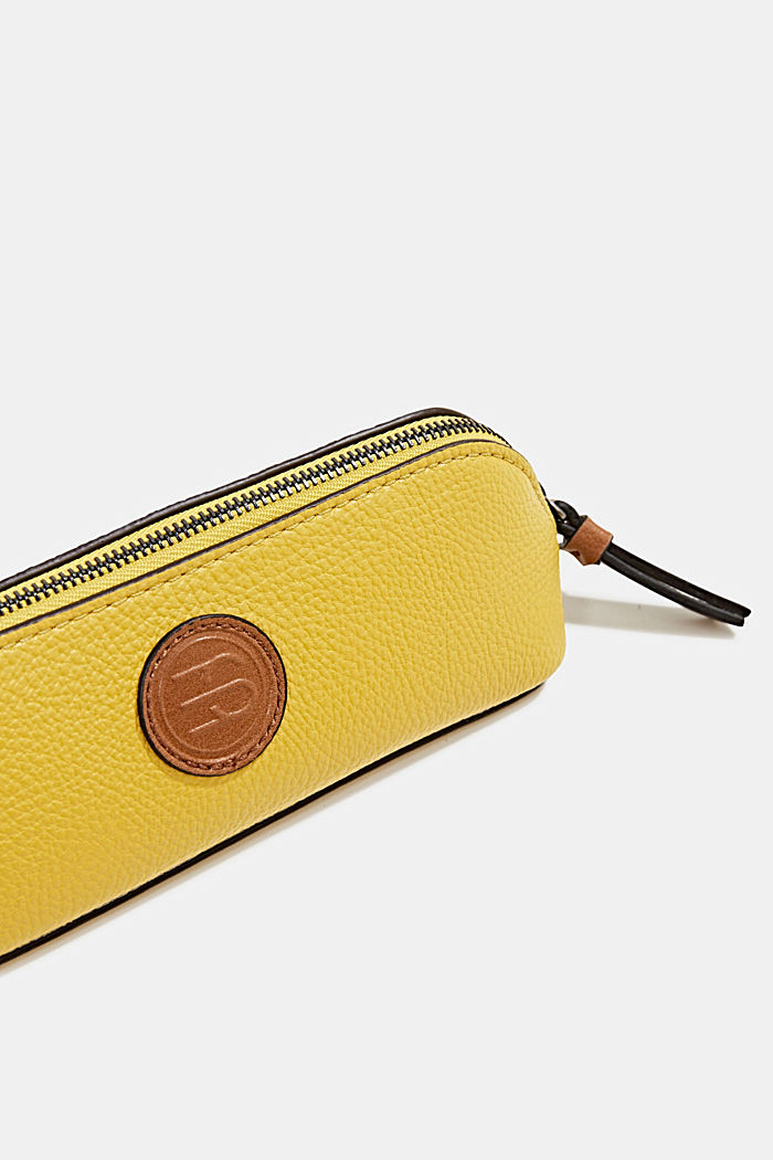Faux leather make-up bag, BRASS YELLOW, detail image number 1