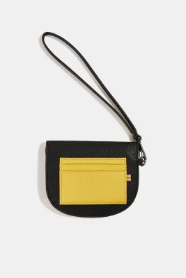 Faux leather purse, BLACK, detail