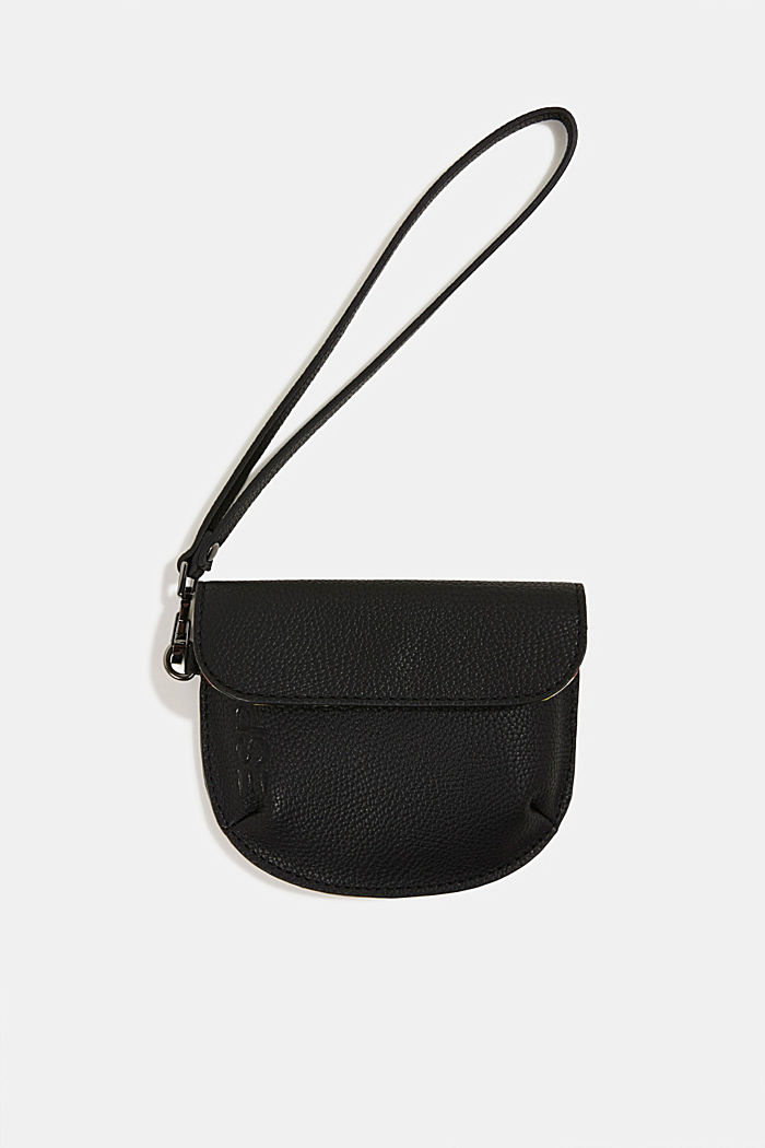 Faux leather purse, BLACK, detail image number 2