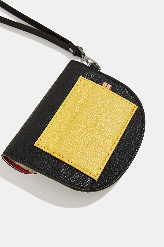 Faux leather purse, BLACK, detail image number 1