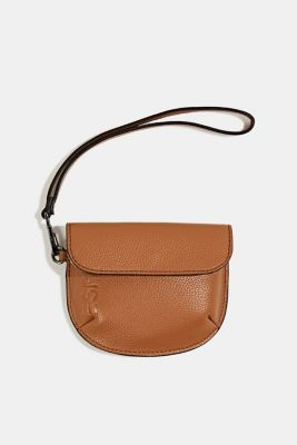 Faux leather purse, TOFFEE, detail