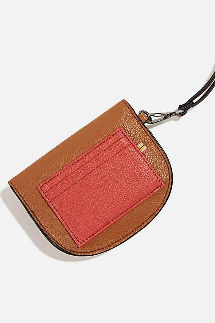 Faux leather purse, TOFFEE, detail image number 1