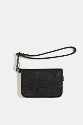 Small faux leather wallet, BLACK, detail
