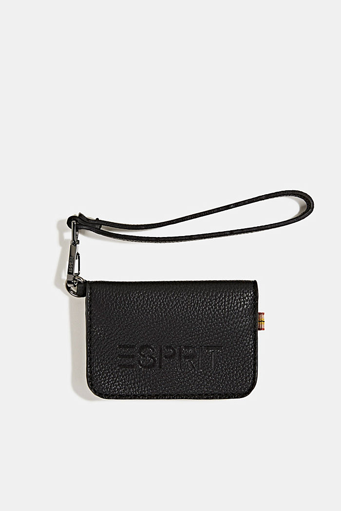 Small faux leather wallet, BLACK, detail image number 0