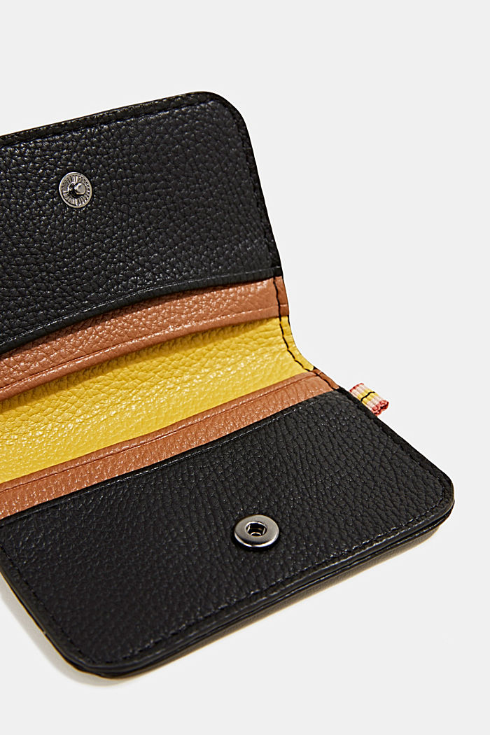 Small faux leather wallet, BLACK, detail image number 1