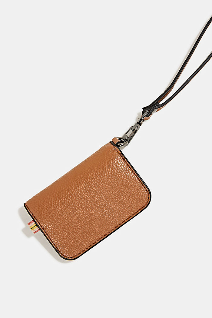 Small faux leather wallet, TOFFEE, detail image number 2