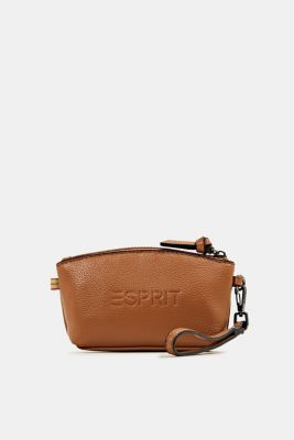Small, faux leather make-up bag, TOFFEE, detail