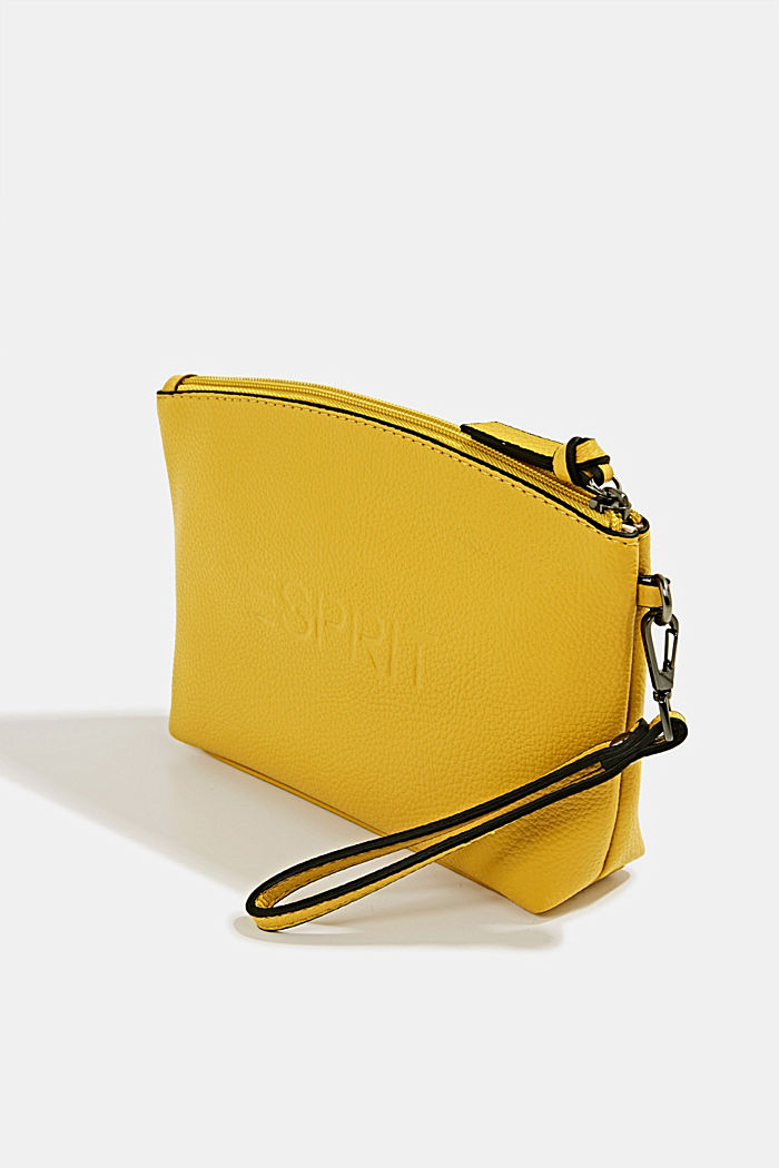 Faux leather make-up bag, YELLOW, detail image number 3