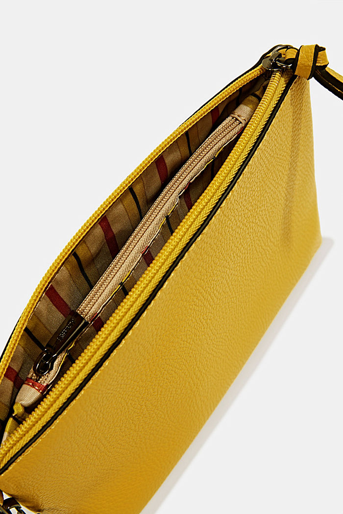 Faux leather make-up bag, YELLOW, detail image number 2