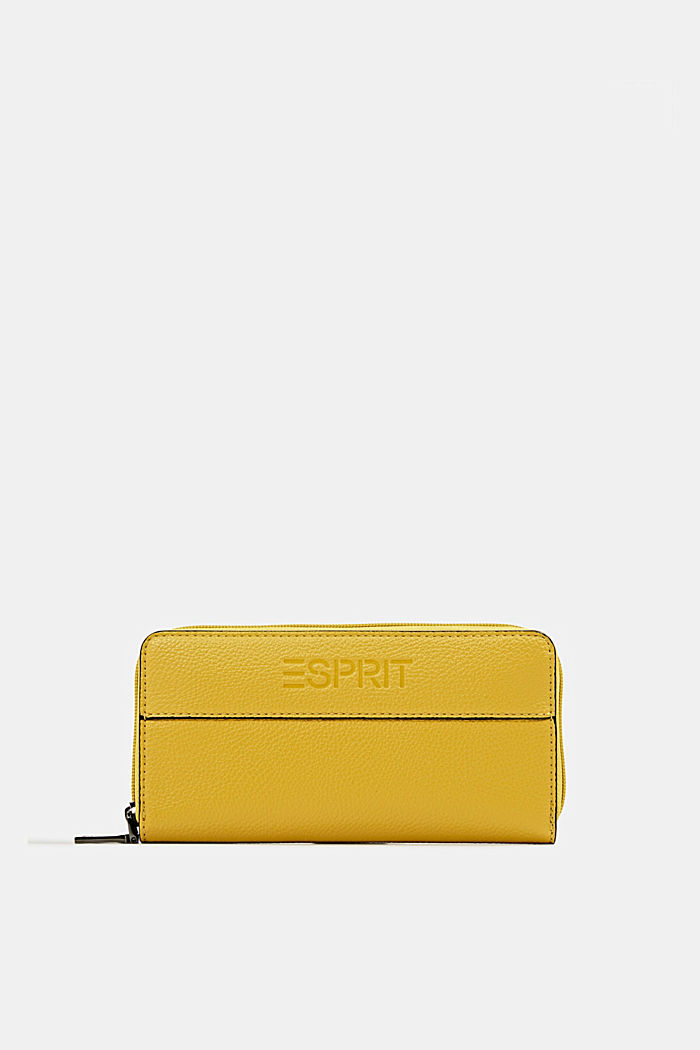 Faux leather purse, YELLOW, detail image number 0