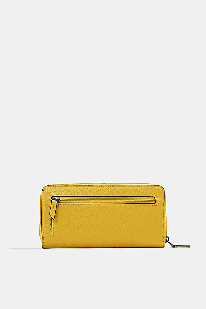 Faux leather purse, YELLOW, detail image number 2