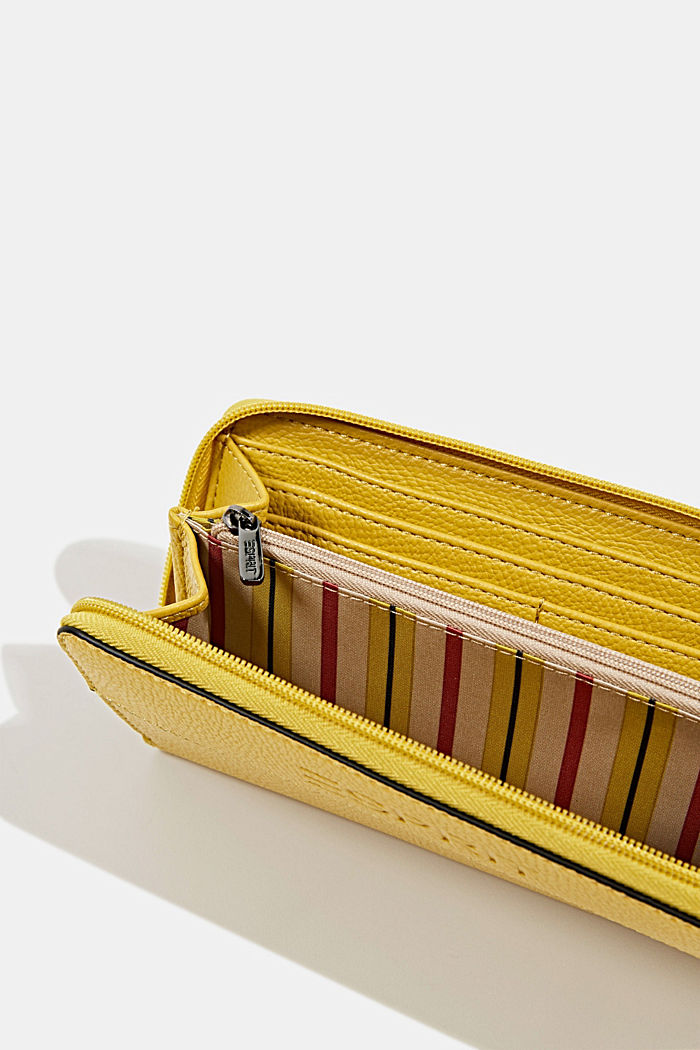 Faux leather purse, YELLOW, detail image number 3