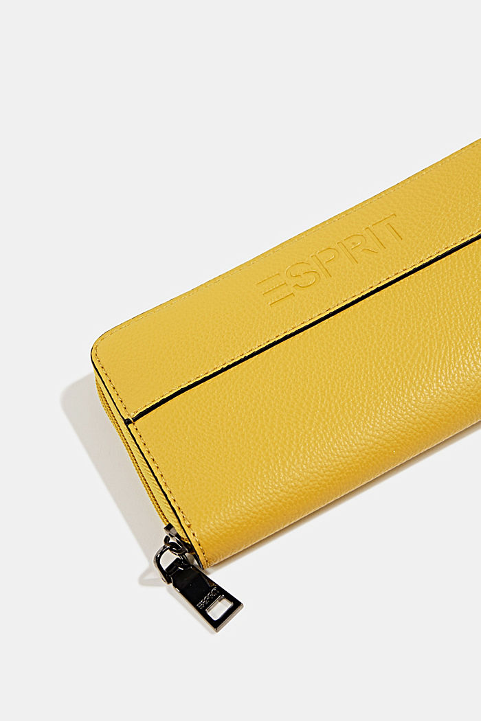 Faux leather purse, YELLOW, detail image number 1