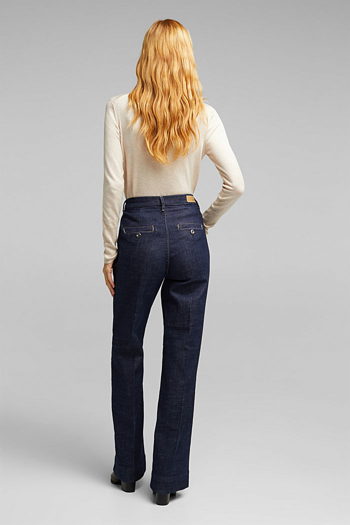 Wide-leg jeans containing organic cotton, BLUE RINSE, detail image number 3